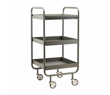 Housedoctor Trolley Roll grau Metall 42x38x85cm