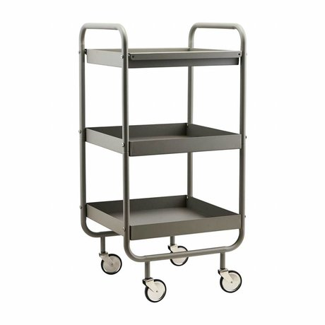 Housedoctor Trolley Roll gray metal 42x38x85cm