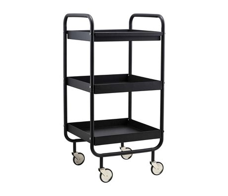 Housedoctor Trolley Roll schwarz Metall 42x38x85cm