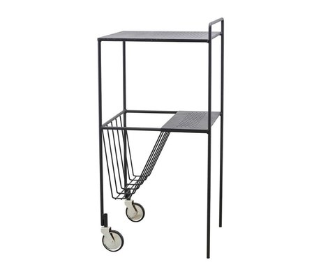 Housedoctor Trolley Use zwart staal 35x35x75cm