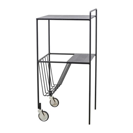 Housedoctor Trolley Use black steel 35x35x75cm