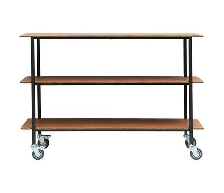 Housedoctor Trolley Vene fer brun bois 150x40x100cm