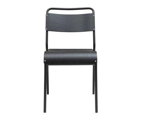 Housedoctor Chaise de salle à manger Original fer noir bois 41,5x41x47cm