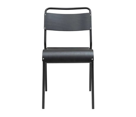 Housedoctor Dining chair Original black wood iron 41,5x41x47cm