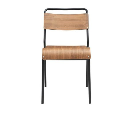 Housedoctor Dining chair Original brown wood iron 41,5x41x47cm
