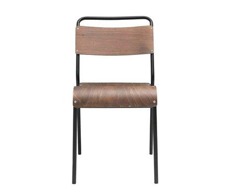 Housedoctor Chaise de salle à manger Original en bois brun foncé 41,5x41x47cm