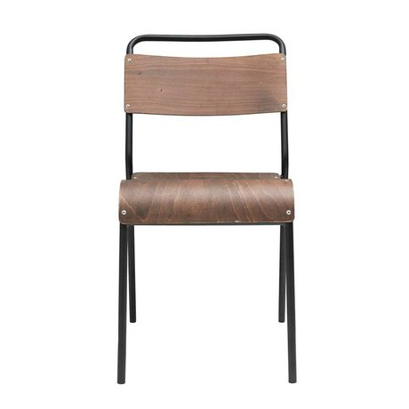 Housedoctor Dining chair Original dark brown wood iron 41,5x41x47cm
