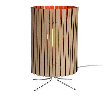 Graypants Lampe de table Palmer carton orange Ø21x39cm