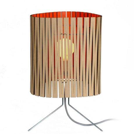 Graypants Lampe de table Leland carton orange Ø26x47cm