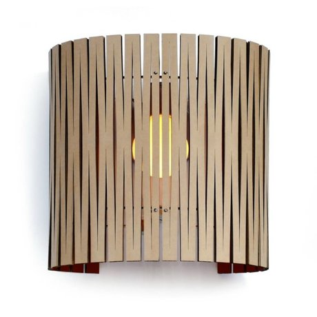 Graypants Wall lamp Rita black cardboard Ø30x32cm