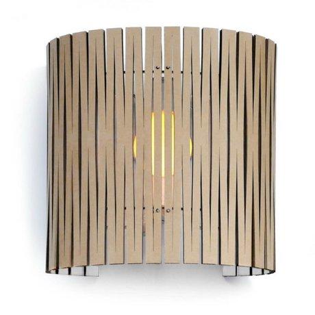 Graypants Wall lamp Rita white cardboard Ø30x32cm