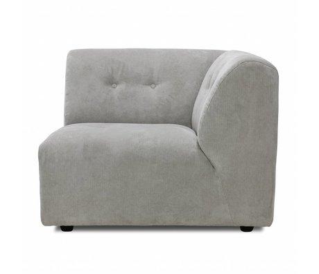 HK-living Sofa Vint Element C rechte Ecke Creme Cord 95x97x74cm