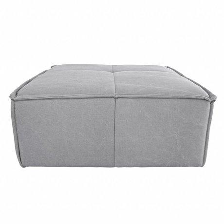 HK-living Hocker Cube light gray canvas 80x69x43cm