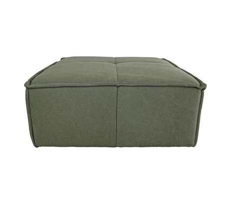 HK-living Hocker Cube armée toile verte 80x69x43cm