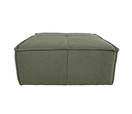 HK-living Hocker Cube army green canvas 80x69x43cm