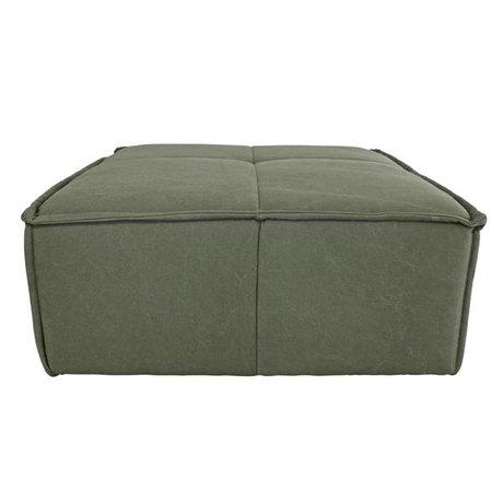 HK-living Hocker Cube Armee Grün Leinwand 80x69x43cm