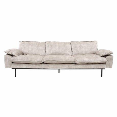 HK-living Sofa retro Sofa 4-Sitzer Samt 245x83x95cm