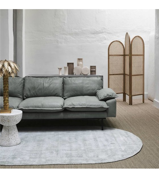 Comfortabel Leren Bankstel.Bank Retro Sofa 3 Zits Mint Groen Leer 225x83x95cm Wonenmetlef Nl