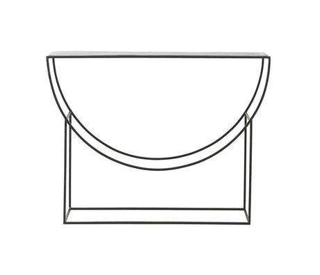 Housedoctor Console Sidetable Sculpture métal noir 120x28x90cm