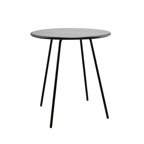 Housedoctor Side table Pi series black steel Ø70x75cm