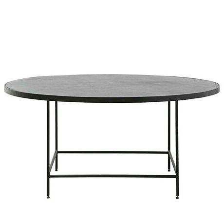 Housedoctor Table basse Balance métal noir Ø100x45cm