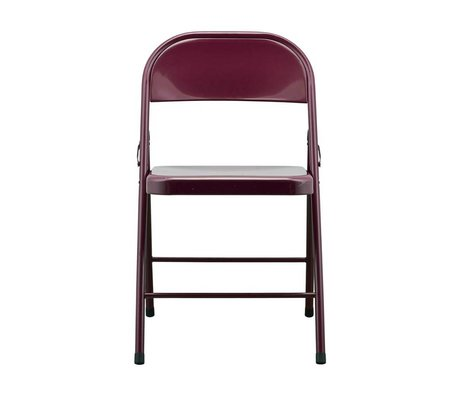Housedoctor Folding chair Fold it bordeaux red steel 46x46x79cm