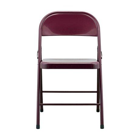 Housedoctor Chaise pliante Pliez-le bordeaux rouge acier 46x46x79cm
