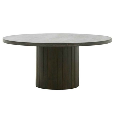 Housedoctor Coffee table Pillar black wood Ø100x42cm