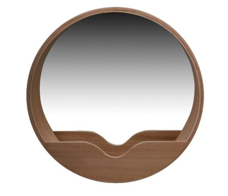 Zuiver Chêne Wall Mirror Round Ø60x8cm