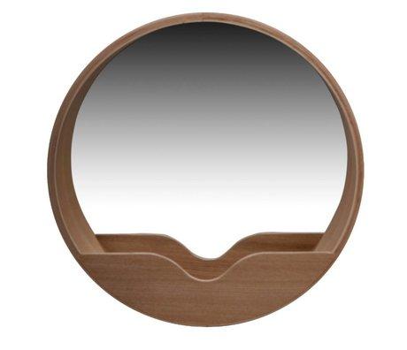 Zuiver Mirror Round Wall oak Ø60x8cm