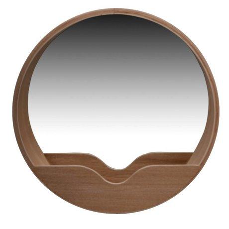 Zuiver Spiegel Round Wall eikenhout Ø60x8cm