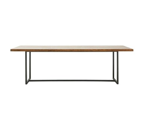 Housedoctor Dining table Lace brown wood metal XL 240x90x74cm