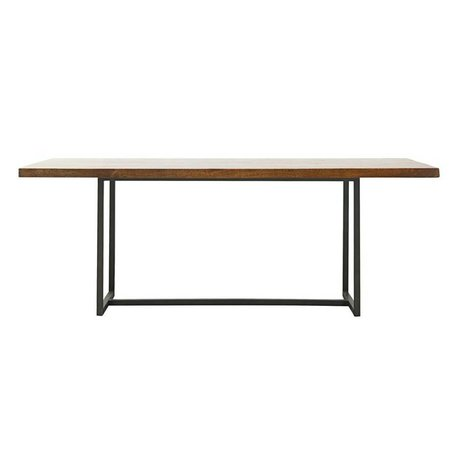 Housedoctor Dining table lace brown wood metal L 200x90x74cm