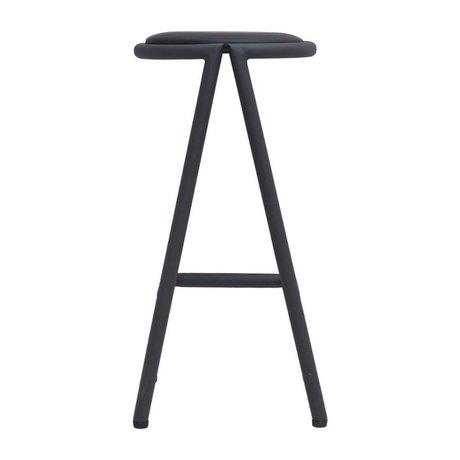 Housedoctor Bar stool Viggo black metal 39x35x72cm