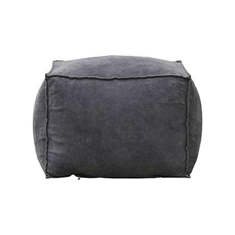 Housedoctor Pouf gray blue suede M 60x45x60cm