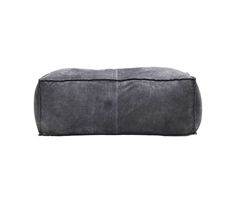 Housedoctor Pouf gray blue suede L 120x60x45cm