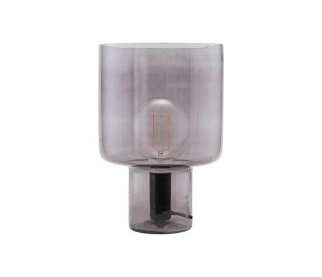 Housedoctor Tafellamp Otto grijs glas metaal Ø24x35cm