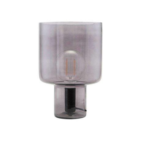 Housedoctor Lampe de table Otto verre gris métal Ø24x35cm