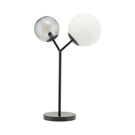 Housedoctor Tischlampe Twice schwarz Glas Eisen 42cm