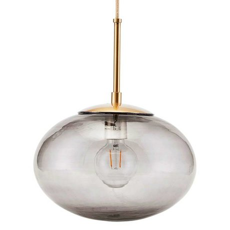 Housedoctor Hanging lamp Opal gray brass gold glass metal Ø30x35cm