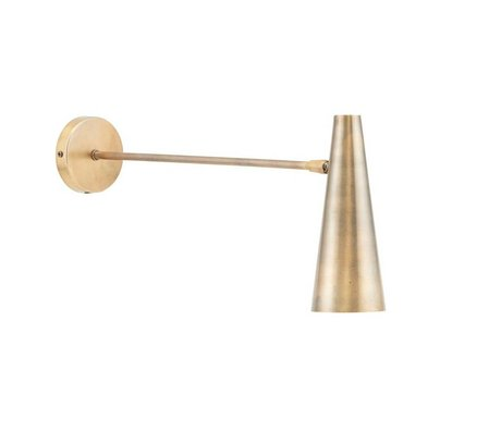 Housedoctor Wandlamp Precise brass goud ijzer L 47cm