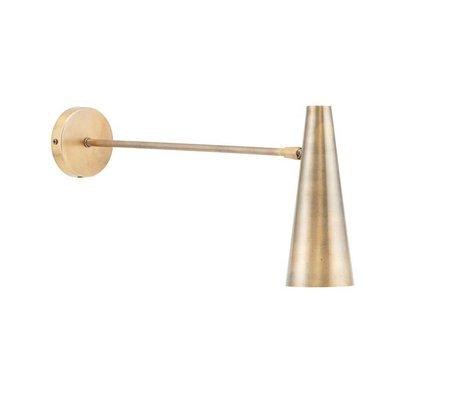 Housedoctor Wandleuchte Präzise Messing Gold Eisen L 47cm