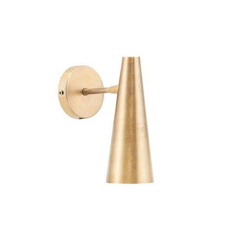 Housedoctor Wandlamp Precise brass goud ijzer S 21cm