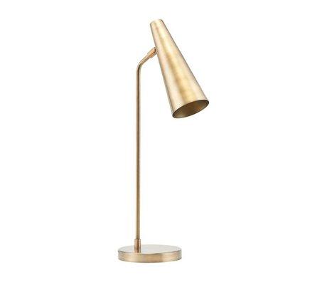 Housedoctor Lampe de table Precise en laiton doré Ø21x52cm