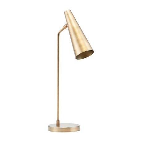 Housedoctor Tafellamp Precise brass goud ijzer Ø21x52cm