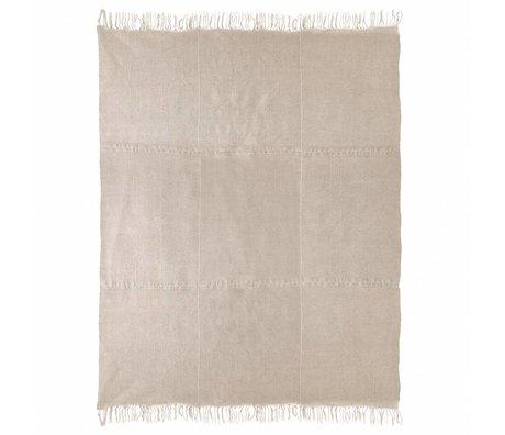 HK-living Vloerkleed naturel bruin linnen 230x320cm