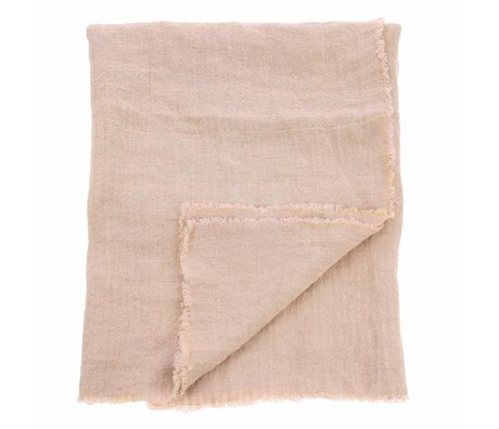HK-living Tablecloth salmon pink linen 140x220cm