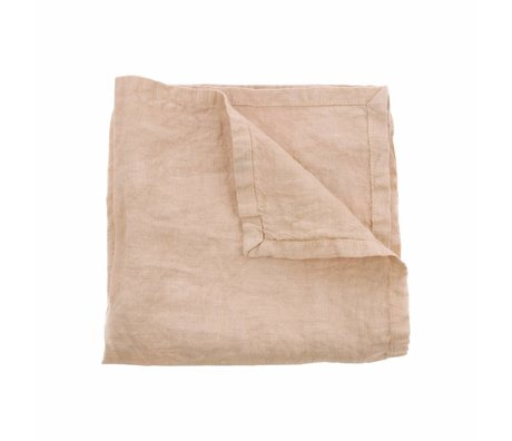 HK-living Napkins salmon pink linen set of 2