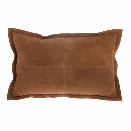 HK-living Sierkussen bruin suède 50x35cm