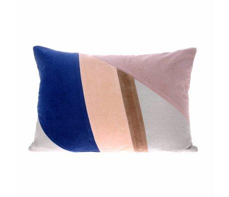 HK-living Throw pillow multicolour A velvet 35x50cm